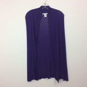 Alberto Makali Crocheted Cardigan Sweater